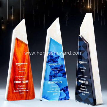 crystal  trophy  for games